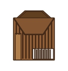 Cartoon package cardboard box delivery vector