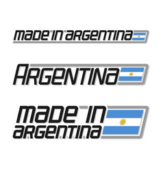 made in argentina vector image
