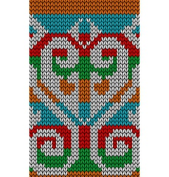 Knitted traditional colors pattern vector