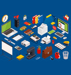 Flat 3d isometric computerized technology vector
