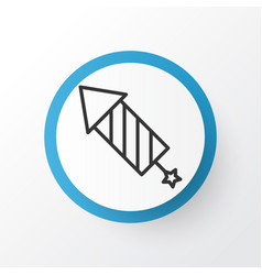 Celebration rocket icon symbol premium quality vector