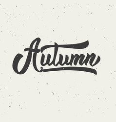 Autumn hand drawn lettering phrase vector