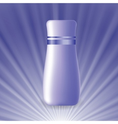 Blue cosmetic tube vector