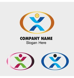 People symbol success creative concept icon vector