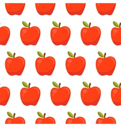 Seamless pattern with red apples vector