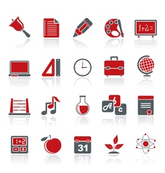 Education science and studies icons vector