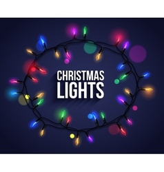 Colorful christmas light bulbs for celebratory vector