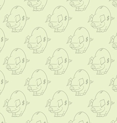 seamless piggy bank pattern one vector image