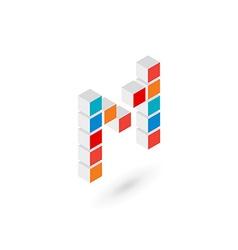 3d cube letter L logo icon design template vector image
