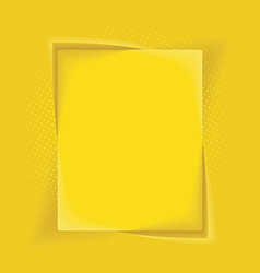 Abstract background with yellow box frame banner vector image