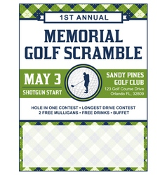 Golf Flyer Tournament vector image