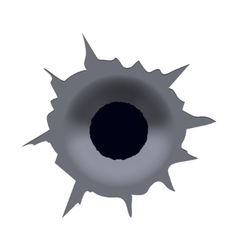 Modern bullet hole on white background vector