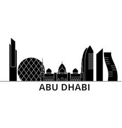 Abu dhabi architecture city skyline travel vector