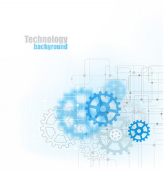 Blue abstract technology background with blue vector