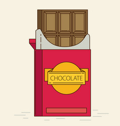 Chocolate retro flat style vector