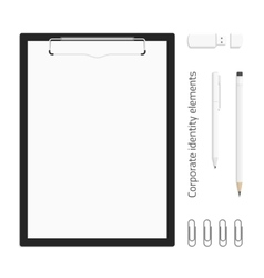 Corporate identity realistic clipboard vector image