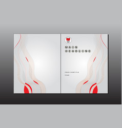 cover minimal style template vector image vector image