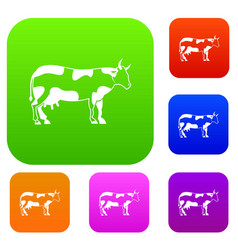 cow set collection vector image vector image