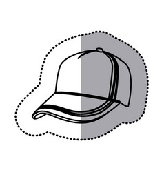 figure hat cloth icon vector image