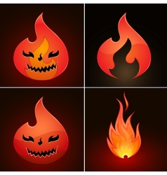 fire icons vector image