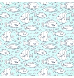 fishes pattern Hand drawn sea life vector image