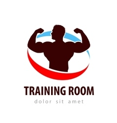 gym logo design template health or vector image