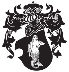 Heraldic silhouette no40 vector
