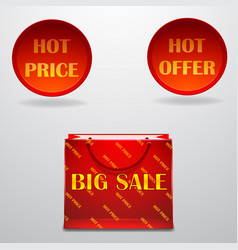 hot-sale-design-with-shopping-bag-eps10- vector image