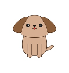 Little glamour tan shih tzu dog cute cartoon vector