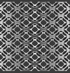 metallic grid with shadow on black seamless vector image vector image