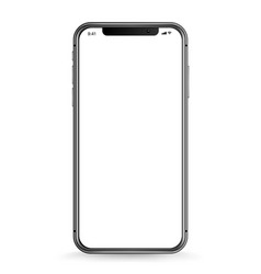 Modern smartphone with blank white screen vector