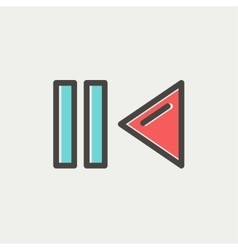 Pause and playback button thin line icon vector image