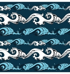Sea waves seamless background vector