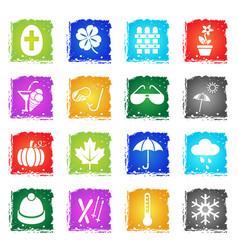 seasons icon set vector image vector image
