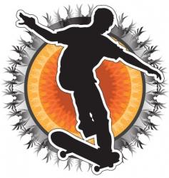 skateboarder design vector image vector image