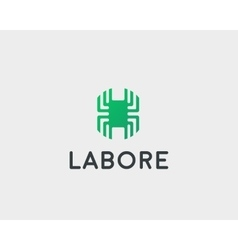 Technology logotype Electronic logo Chip vector image vector image