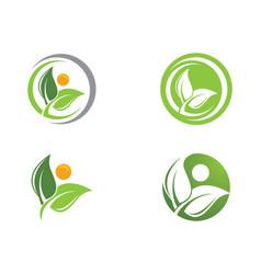 tree leaf logo design eco-friendly concept vector image vector image