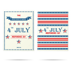 Two usa holiday porsters vector