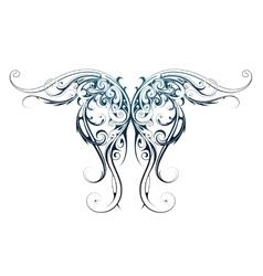 Wing shape tattoo vector
