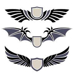 Wings Set of design elements vector image