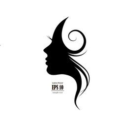 Woman profile style salon vector