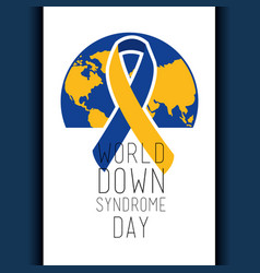 World down syndrome day banner celebration event vector
