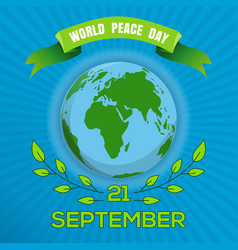 World peace day poster design vector