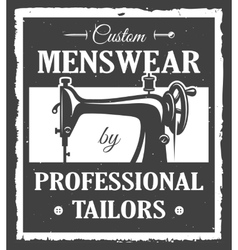 Professional tailor label vector