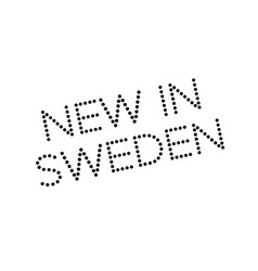new in sweden rubber stamp vector image