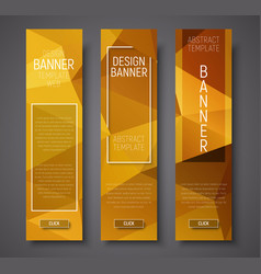 Web banners with abstract polygonal background vector
