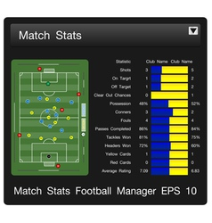 Match start football manager vector