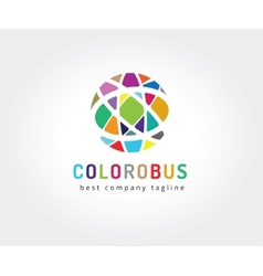 Abstract colored circles logo icon concept vector