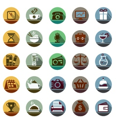 On the table icon set vector