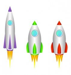 rockets vector image